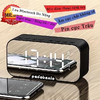 [ Loa Kiêm Đồng Hồ ] Loa Bluetooth MP3 Padabanic Đa Năng Kiêm Báo Thức Nghe Đài FM Pin 1400mAh Nghe Nhạc ~8 Tiếng