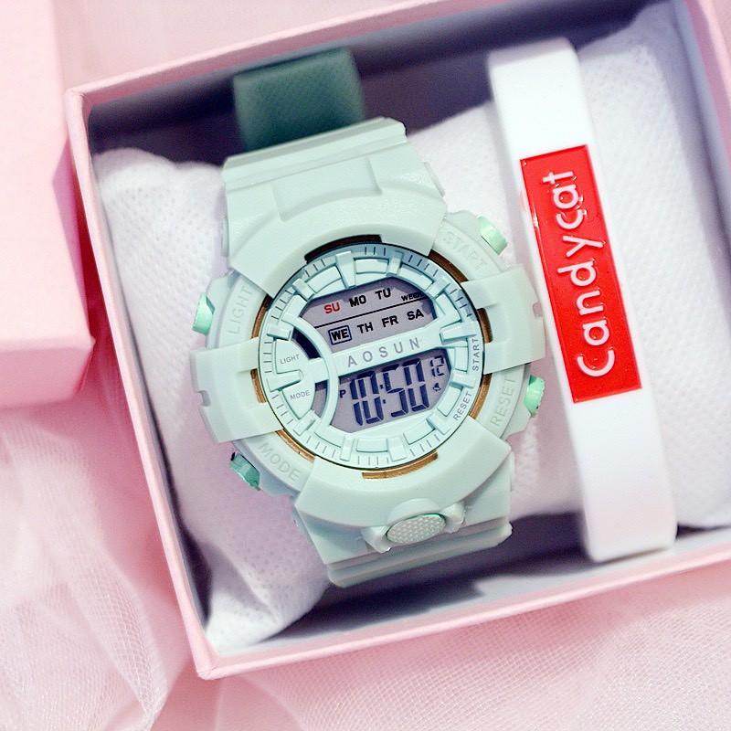 Đồng hồ nam nữ điện tử Aosun cực đẹp DH107
