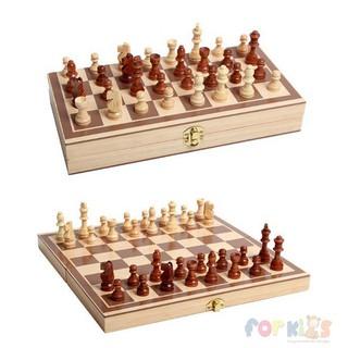 Bộ cờ vua bằng gỗ, chất đẹp, gọn nhẹ