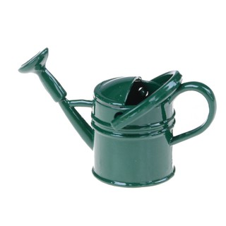 {NUV} 1:6/1:12 Metal Watering Can Doll House Miniature Garden Accessory Home Decor{LJ}