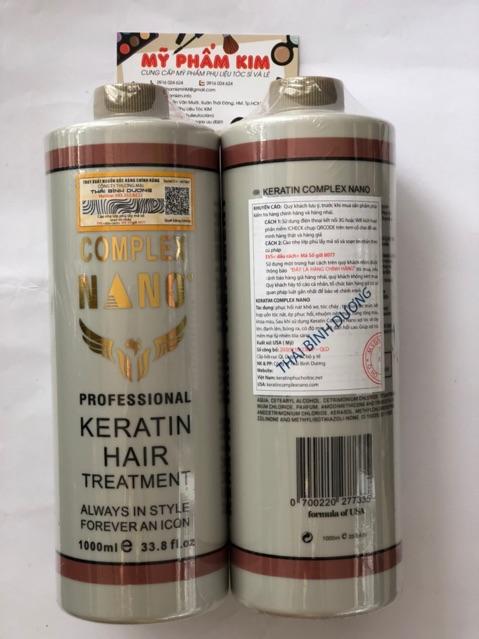 <PHỤC HỒI>Dầu hấp tóc Keratin nano complex hàng chuẩn xịn chuyên phục hồi tóc nát 1000ml