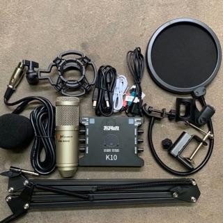 Combo thu âm hát livestream karaoke míc AQTA BM900-Sound card xox K10 bản mới nhất k rè và chân kẹp màng lọc bh 6 tháng