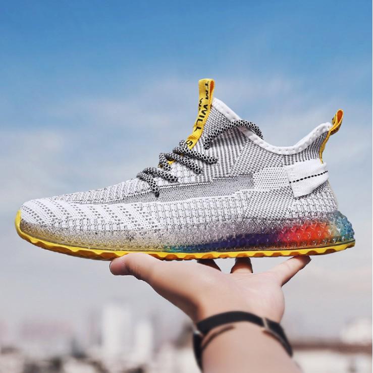 Tặng lót giày tăng chiều cao -D86 Giày thể thao sneaker nam đế 7 màu D86