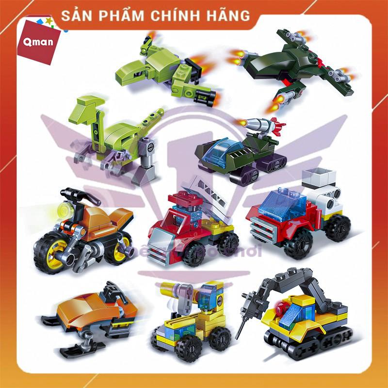 Combo 10 hộp đồ chơi xếp hình lego thương hiệu QMAN – Xe các loại