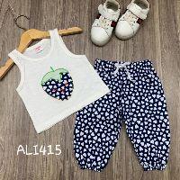 SALE SỐC - Bộ Alibaba thun cotton nhiều mẫu cá tính cho bé gái (8 đến 40kg)