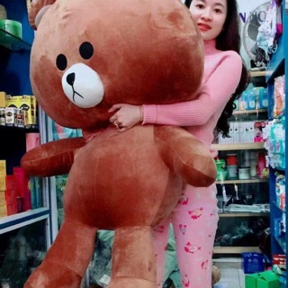 (Rẻ vô địch) gấu bông cao cấp Brown size 1m4