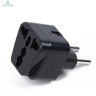 Plug Adapter Black Travel to EU/Brazil/Israel Wall Power Electrical UK/US/EU/AU Outlet Convert Universal Durable