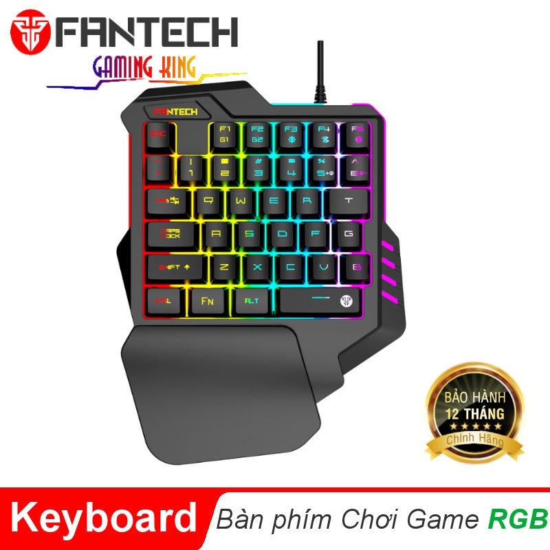 Bàn phím chơi game Fantech K512 Đèn RGB Hỗ Trợ 35 Phím Một-Tay Ergonomic Có Dây Chống Thấm Nước dùng Cho Pc, mac, Máy Tí Giá chỉ 209.000₫