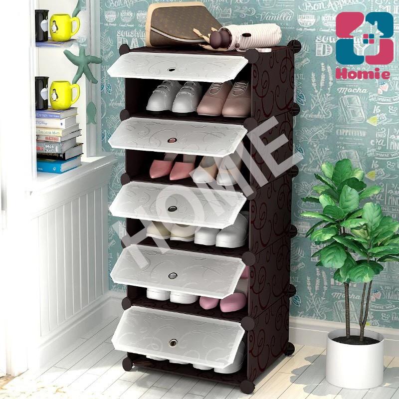 Tủ giày 5 ngăn LOẠI TO sale sập sàn - Tủ nhựa ghép đựng dày (nhiều mẫu)