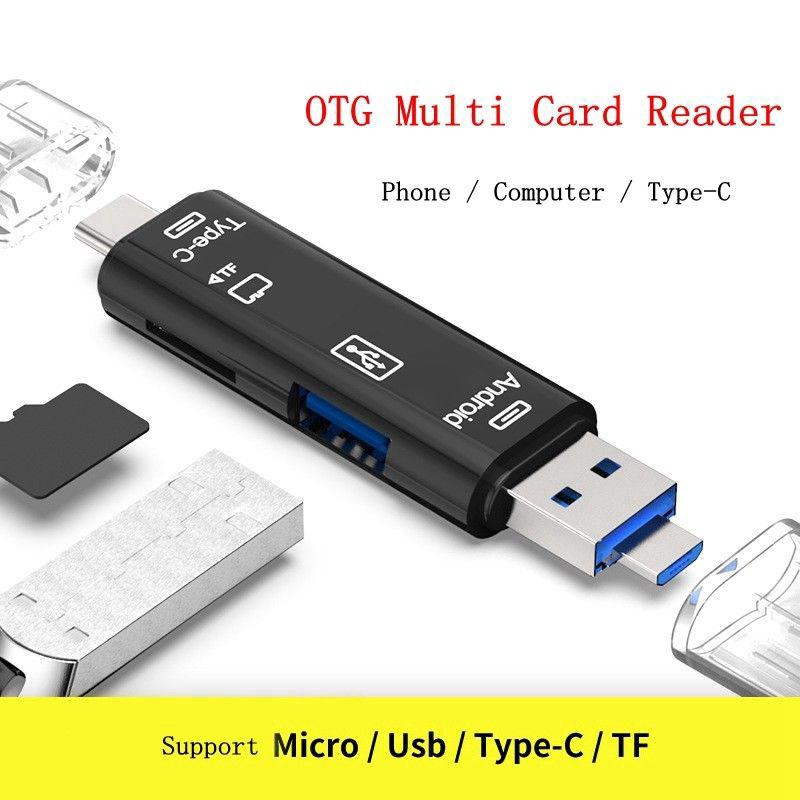 Đầu đọc thẻ nhớ Micro SD TF OTG USB 2.0 dành cho điện thoại Android/ máy tính bảng