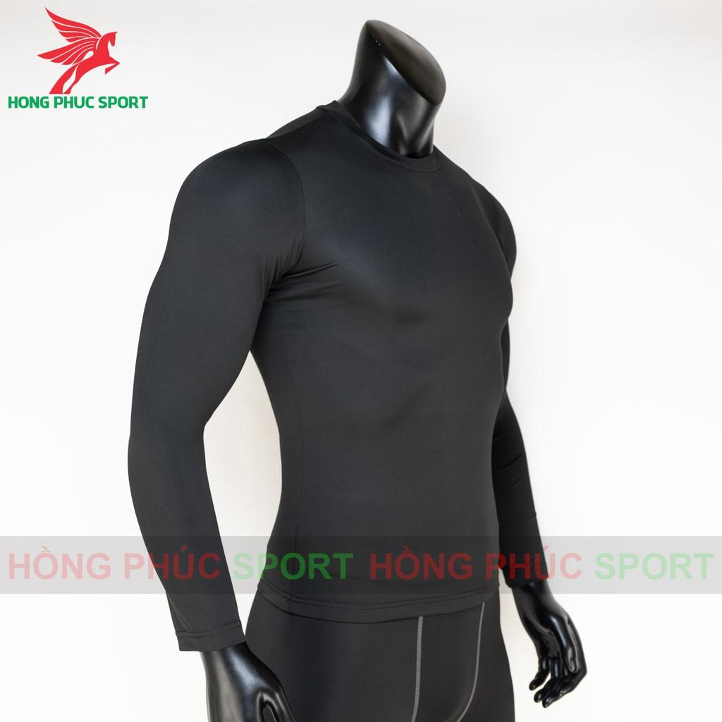 Áo thun nam body giữ nhiệt dài tay cực đẹp màu đen