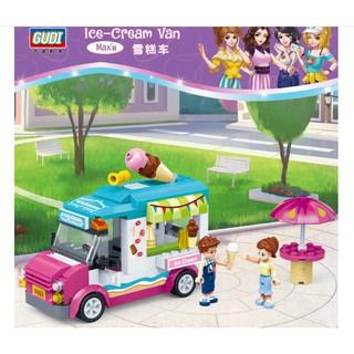 [Mã NOWSHIPMOI hoàn 100% xu đơn 0Đ] Lego xe kem Ice-cream van 228 chi tiết