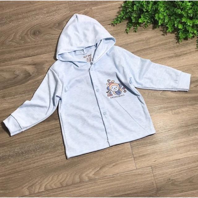 Áo khoác có mũ chất nỉ cotton cho bé