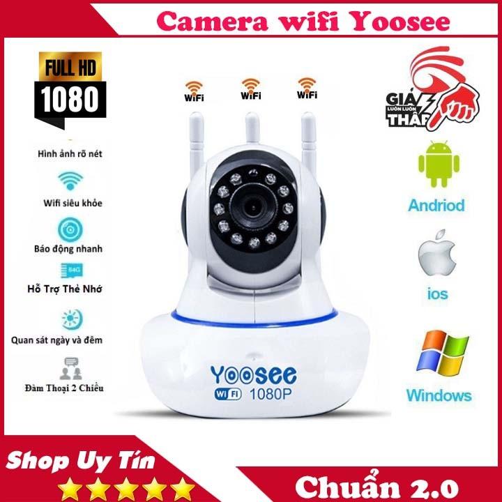 Camera Yoosee 3 Râu xoay 360 độ, độ phân giải FULL HD 2.0MP 1920x1080p Không Dây, tích hợp ghi âm