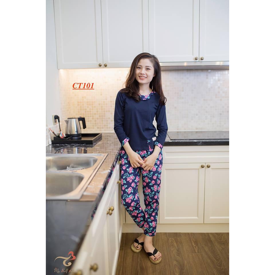 Đồ bộ mặc nhà 3T My Self Home - Bộ áo cotton quần thô CT101