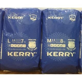 Combo 10 gói bỉm quần người lớn Kerry size M 8 miếng, L 7 miếng