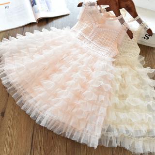 Váy thời trang không tay theo phong cách công chúa dễ thương cho bé gái