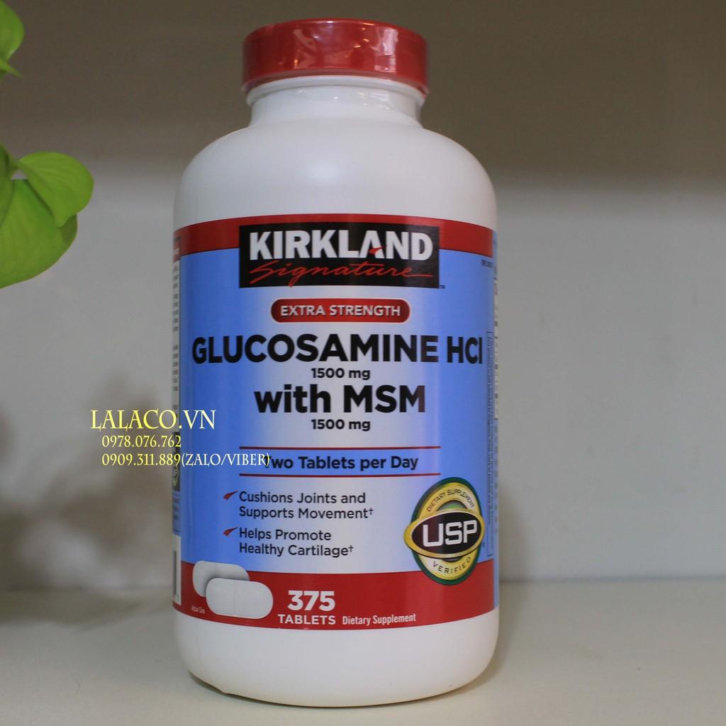 Viên uống Glucosamin HCL 1500mg With MSM 1500mg glucosamine Kirkland 375 Viên