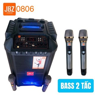 [Tặng 02 micro] Loa kéo mini JBZ JB-0806, loa karaoke 2.5 tấc, công suất 300W