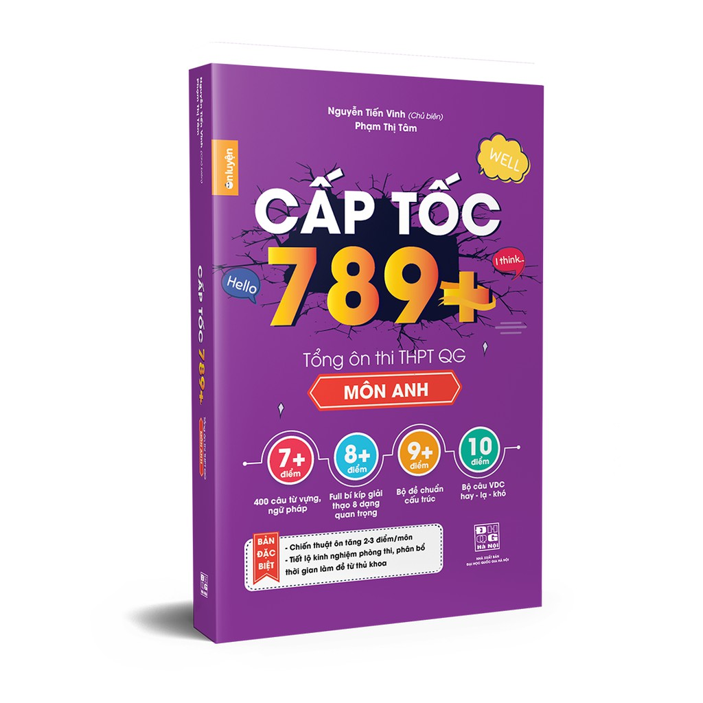 Sách - Cấp tốc 789+ Tổng ôn thi THPT Quốc Gia Môn Anh