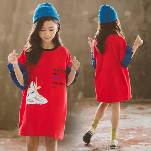 Váy bé gái Đầm suông hè bé gái hàng nhập Mã sản phẩm: DT6582 Giá: 250k Size: 110 120 130 140 150 160 Màu sắc: đỏ 💝