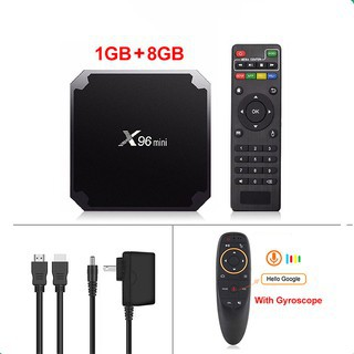X96mini xem 4K 3D video Android tv box android 7.12 xem YouTube S905W  1G + 8G / 2G + 16G