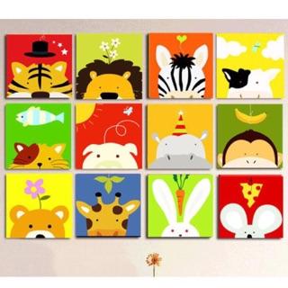 Tranh sơn dầu tự tô màu số hoá cho trẻ em – Kích thước 20x20cm – Cho Bé >6 tuổi