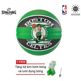 Bóng rổ Spalding NBA Team Boston Celtics Outdoor size 7 Tặng bộ kim bơm bóng và lưới đựng bóng