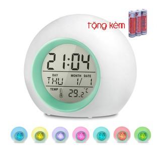 [TẶNG KÈM PIN 3A] ⏰ Đồng Hồ Báo Thức Để bàn Màn Hình LCD ⏰ Đa Chức Năng: Xem giờ, Báo thức, Xem lịch, Nhiệt kế, Đèn ngủ