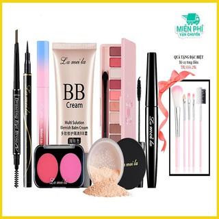 Bộ trang điểm đầy đủ LAMEILA bộ trang điểm cá nhân make up chuyên nghiệp set trang điểm dành cho nữ SAKOVI BTĐ9-03
