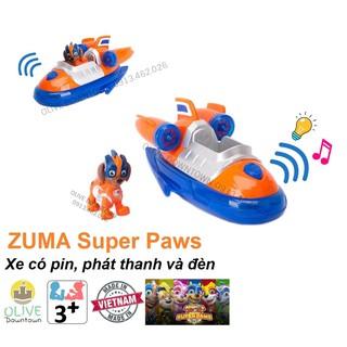BỘ LỚN Zuma lái ca nô siêu tốc CÓ PIN phim Những chú chó cứu hộ – Paw Patrol