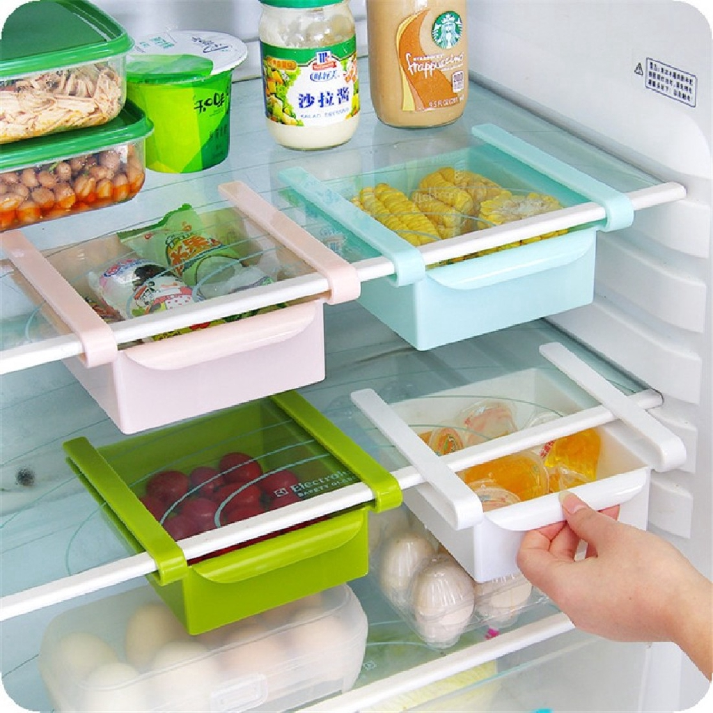 Refrigerator Drawer Storage Box Multifunctional Fruit Vegetable Storage Rack Useful Kitchen Accessories 4 Colors