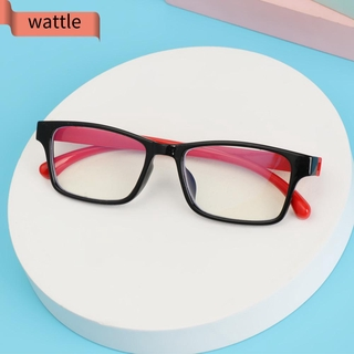 WATTLE Ultralight Anti-blue Light Glasses Anti-blue Rays Children Eyeglasses Kids Goggles Vision Care Soft Frame Radiation Protection Boys Girls Fashion Silicone Eyewear