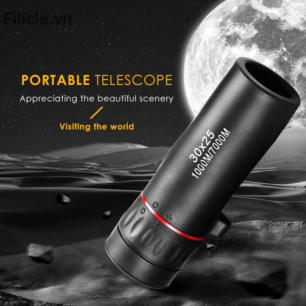 FILICLE Mini Portable Zoom Scope 30x25 Monocular Telescope for Travel Hunting