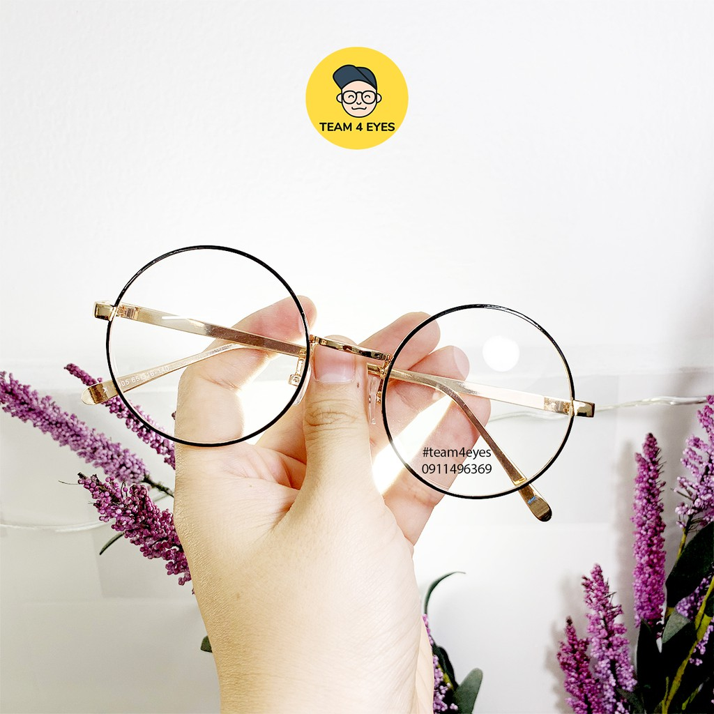 [ Ảnh thật ] Mắt kính cận gọng tròn nobita thời trang, sang trọng