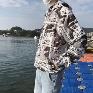 Summer Limited new multicolor with print optional casual fashion couple's essential sunscreen jacket