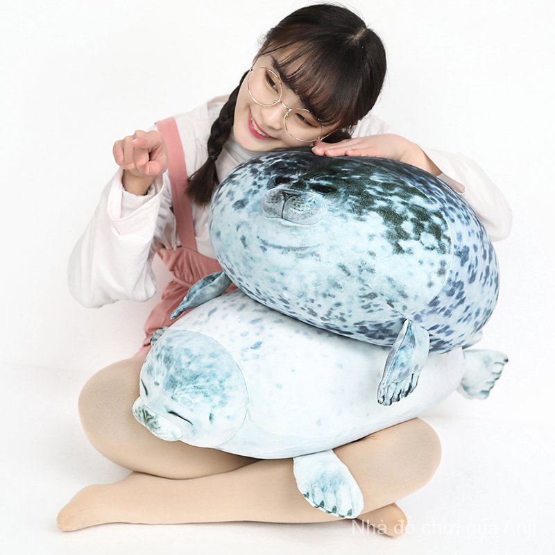 3 Sizes Stuffed Animal White Grey Seal Plush Toy Doll Birthday Valentine Holiday Gift