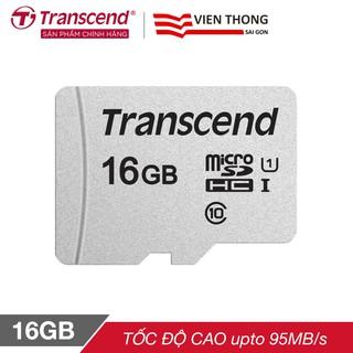 Thẻ nhớ microSDHC Transcend 16GB 300S tốc độ upto 95MB s - Hãng phân phối chính thức thumbnail