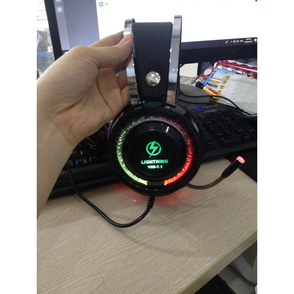 Tai nghe Lightning V6S 7.1 cổng USB