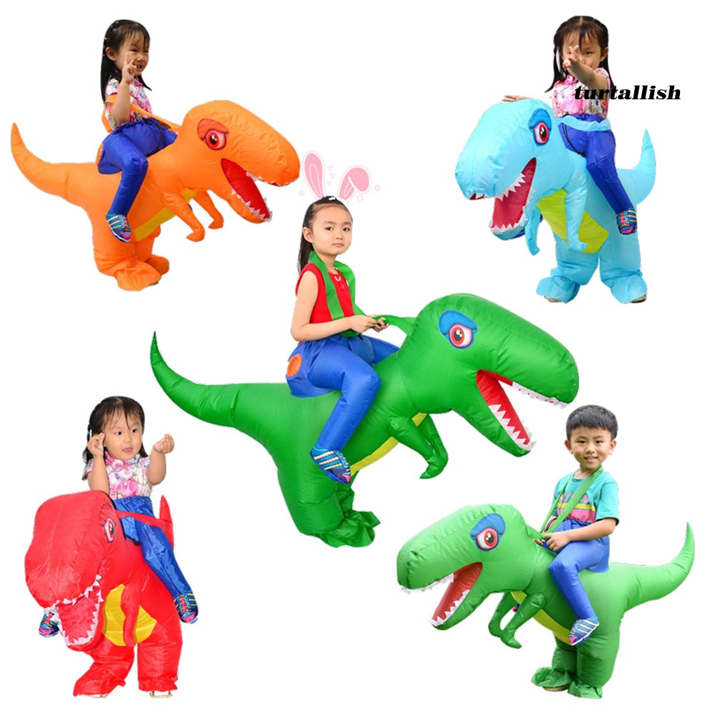 TUR_Halloween Children Kids Inflatable Ride Dinosaur Dragons Costume Cosplay Outfit