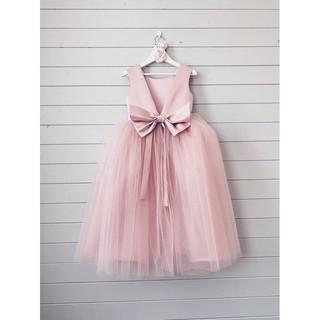 Váy công chúa Pink Peony đính nơ to