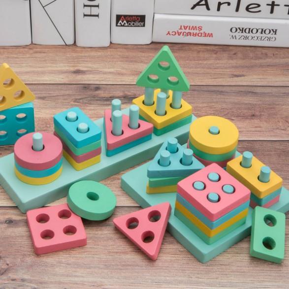Đồ chơi thả hình 4 trụ mẫu mới cho bé