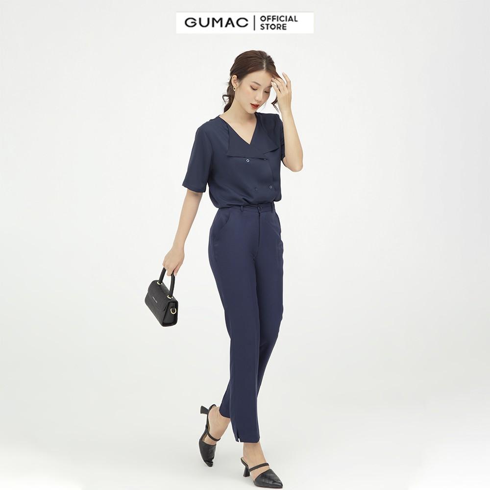 Mặc gì đẹp: Đúng gu với Quần tây nữ xẻ lai GUMAC công sở dáng basic nhiều màu QB546