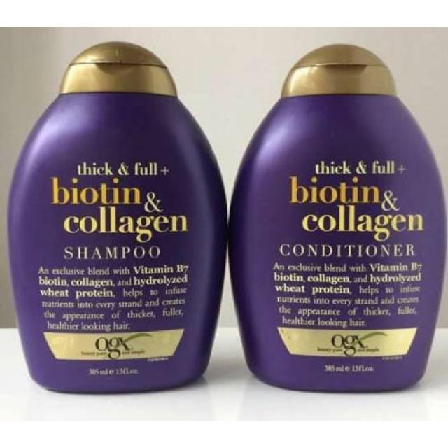 ?? Dầu gội và xả OGX Thick & Full Biotin Collagen 385ml