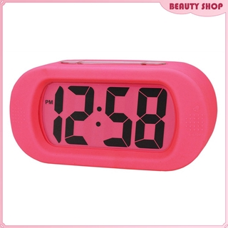 Silicone Digital Alarm Clock With Backlight Snooze For Kids Boys Girl