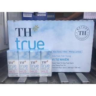 TH*true MILK HILO Thùng 48 hộp 180ml Sữa tươi tiệt trùng Vị tự nhiên, Giàu Canxi, Ít béo