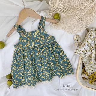 Bán sỉ váy hoa nhí 3 màu cho bé bao chất