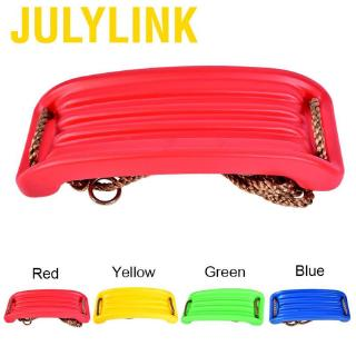 Julylink Child Outdoor Plastic Bent Swing Seat for Kid Backyard Kindergarten Playground