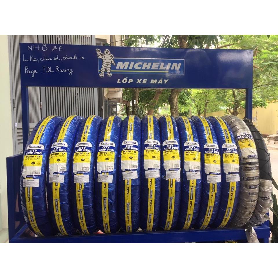 Vỏ lốp xe Michelin City Grip-Pro( dòng không sử dụng ruột dùng cho xe số.)_Dochoixemaynhapkhau