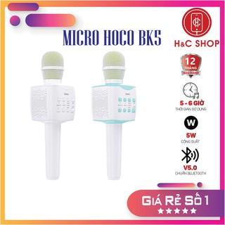 CHÍNH HÃNG Micro Bluetooth Hoco BK5 V5.0, phát nhạc sống động, nhiều chế độ thay đổi giọng